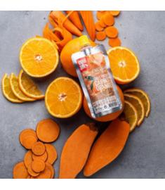 Photo d'ambiance pulpe de fruits Patate douce orange carotte Mulebar