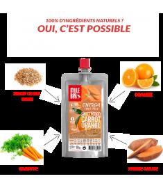Ingrédients pulpe de fruits Patate douce orange carotte Mulebar