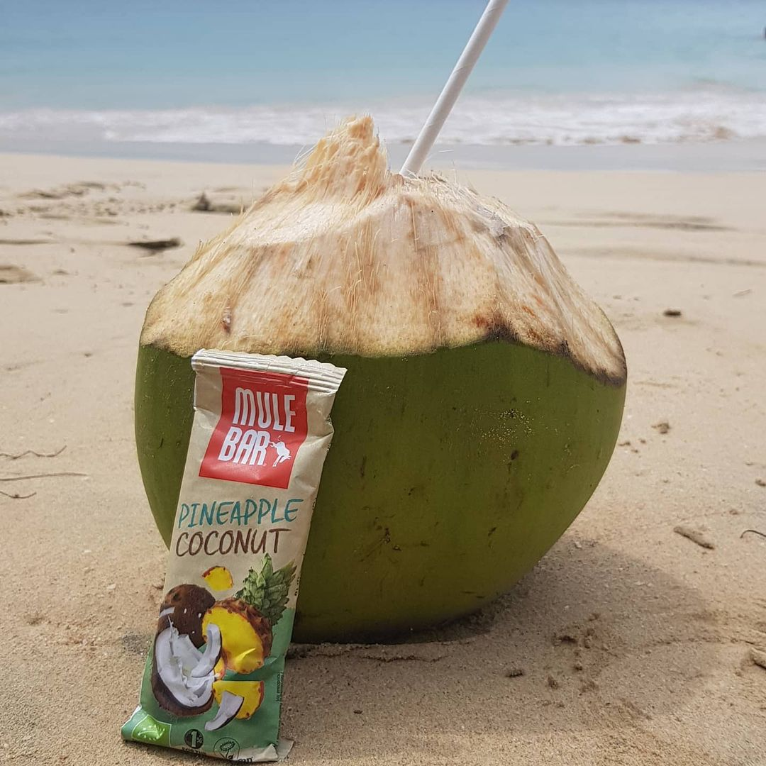 Barre énergétique ananas, noix de coco